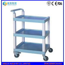 Mulit Purpose ABS 3-Tier Shelf Medical Equipment Carts/Trolley