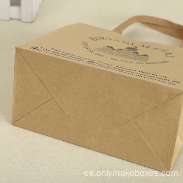 Regalos hechos a mano Kraft Paper Bags Gifts Shopping Bag