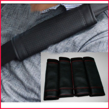Super Fiber Leather Embroider Customized Logo Car Seatbelt Cover