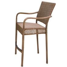 Conjunto de jardín de mimbre de la resina al aire libre barra muebles de la rota silla