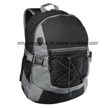 Fashion Black 600d Polyester Sports Backpack Bag