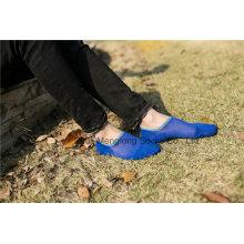 Мужские невидимые хлопчатобумажные носки с силиконовой гель-пяткой