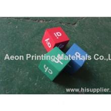 Heat Transfer Printing Foils For Custom Dice Toy/acrylic Toys