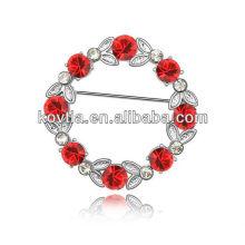 Crystal rhinestone broche pinos broche brotos de flor de rubi atacado broche personalizado