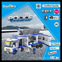 Jogo educativo para crianças brinquedos educação blocos carro de polícia acessórios de polícia elétrica