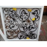 wrought iron window ornament
