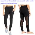 Штаны для йоги с черный видеть сквозь сетки и боковыми карманами