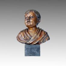 Bustos Estatua Boy Bronce Escultura TPE-082
