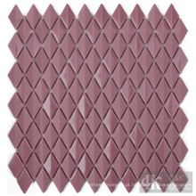 Folha de mosaico de mosaico de vidro para banheiro vermelho arroxeado