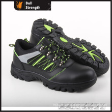 Genuine Leather with Cemented Rubber Low Cut Safety Shoe (SN5296)