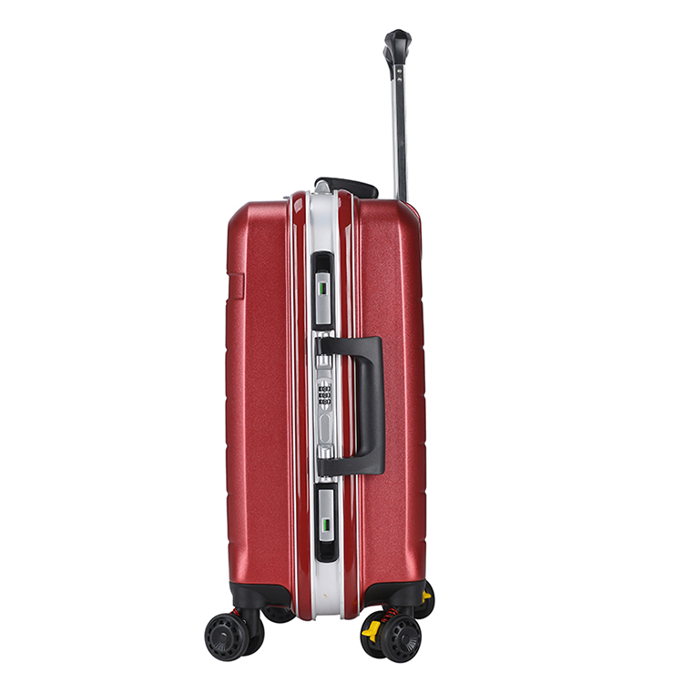 red color luggage