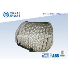8 Strand 64mm 220m Length Nylon Mooring Rope