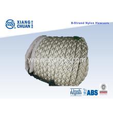 Corde d'amarrage en nylon 8 brins 64mm longueur 220m