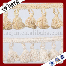 simple design handed made tassel fringe and tassel for curtain decoration and other home textile