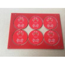 4-skikt Quick Turn PCB prototyper Red Solder ENIG ytfinish