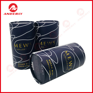 Customized Recyclable Gift Paper Tube For Cerramic Packaging