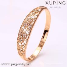 50914 xuping produits chauds pas cher en gros verre bangles de pierre avec 18k plaqué or