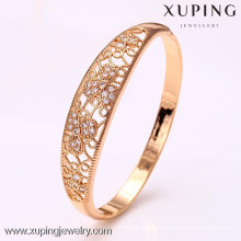 50914 xuping hot products cheap wholesale glass stone bangles with 18k Gold Plated