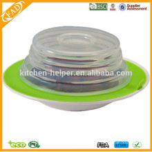 BPA Free Factory Price Food Grade Non-stick Silicon Suction Plate Topper