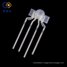 Par le trou 3mm rgb mamelon mené diodes 4 broches tricolore dip conduit pour l'éclairage du clavier