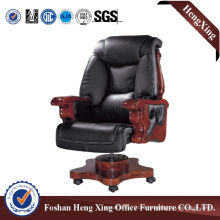 Wooden High Back Leather Executive Boss Office Chair (HX-CR004)