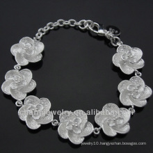 Wholesale 925 Silver Cute Flower Bracelets for Girls BSS-016