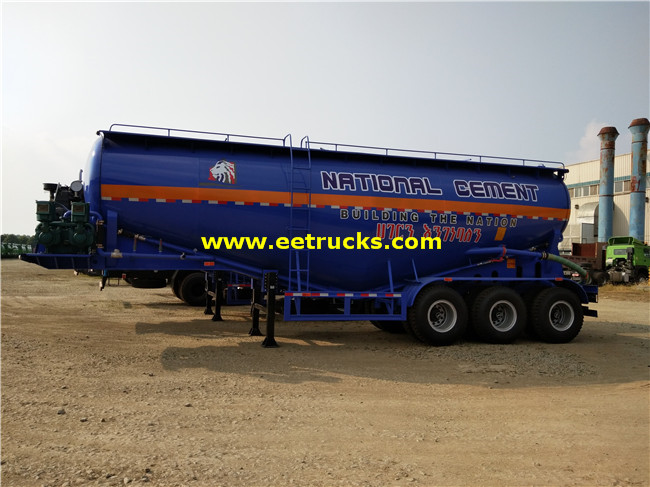 35-60cbm Bulk Powder Tank Trailers