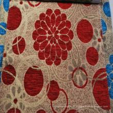 Types de tissus d'ameublement en chenille de style sud-américain 100% polyester