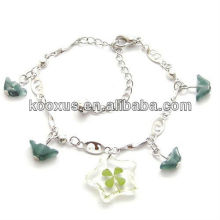 Lucky casino four leaf clover bracelets/bangle jewelry