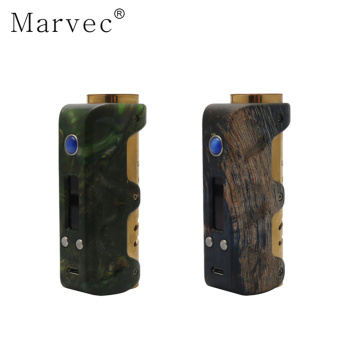 21700c 18650 stablilized wood ecig mod vape