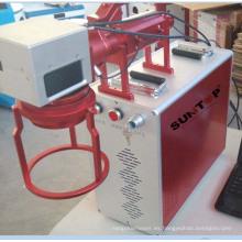 Marcador láser portátil de fibra de mano de alta velocidad de 20 vatios portátil para marcas de piezas grandes y pesadas