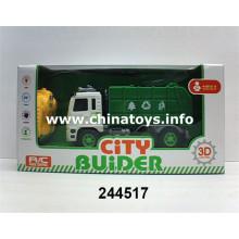 2016 Plastic Toy 2CH Remote Control Construction Car (244517)