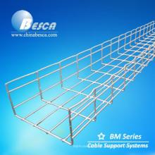 Bandejas de cabo da cesta da rede de arame galvanizada da fábrica de Hilti (em linha reta ou tipo de Cablofil o OEM)