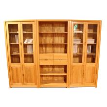 Armário moderno de livros de escritório de madeira (p5)