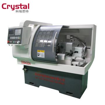 China mini cnc lathe machine/turning machine with three jaw manual chuck CK6432A