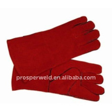 Red Cow Leather Welding Protective Gloves