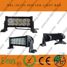 Principal! ! ! Barra de luz LED de 7 polegadas 36W, barra de luz LED 3W Epsitar fora de estrada condução de luz de trabalho LED