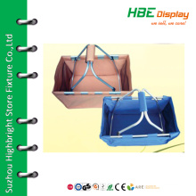 Wholesale folding double handle picnic basket