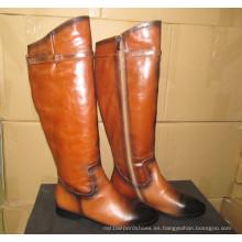 Botas de última moda de la rodilla del diseño (Hcy02-1129)