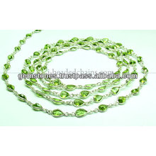 Bezel Bezel Bead Beaded Chain, Gemstone Bezel Jóias Fornecedor
