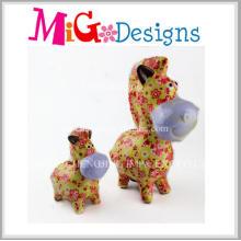Newest Decor Art Gift Ceramic Animal Piggy Bank OEM