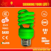 9mm 13W colored Half Spiral lamp SKD 10000H CE QUALITY