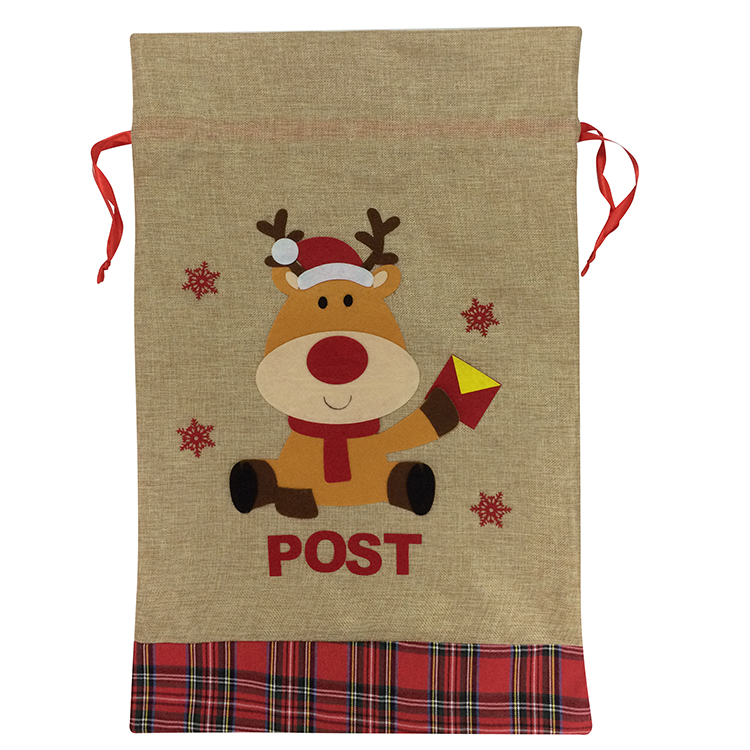 Cute Reindeer Pattern Christmas Sack