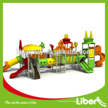 Double Fun Two Sides Outdoor Playground Slides Equipment LE.TY.012