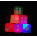Neon Color Light-up Flashing Dices
