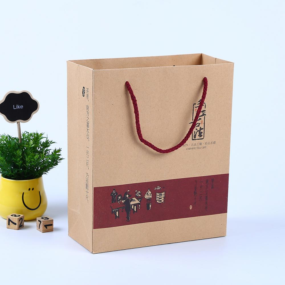 Reusable Food Pouch Stand Up Kraft Paper Bags