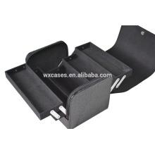 Populaire noir cosmétique pvc sac promotionnel avec matériel de niveau élevé