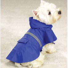 Dog Raincoat Pet Raincoat Reflective Strips Waterproof Coat Outdoor Clothing for Large Dogs