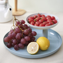 Plastic DIY Round Two Layer Fruit Tray