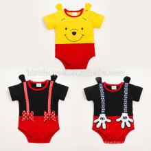 Ropa de bebé infantil barato 2016 niños de manga corta en blanco ropa de bebé del verano mameluco recién nacido